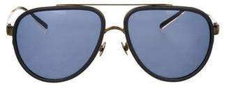Dries Van Noten Linda Farrow x Tinted Aviator Sunglasses