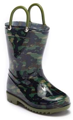 LILLY OF NEW YORK Camo Printed Light-Up Rainboot (Toddler)
