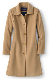 Lands' End Women's Luxe Wool Insulated Car Coat-Warm Camel $219 thestylecure.com