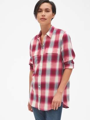 Gap Oversized Boyfriend Flannel Shirt