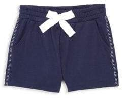Ella Moss Girl's Blanket-Stitch Shorts