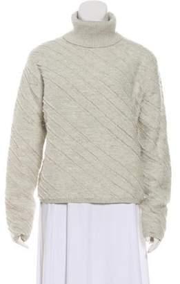 Proenza Schouler Wool Turtleneck Sweater Grey Wool Turtleneck Sweater