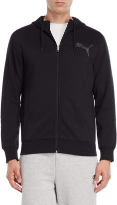 Puma Black Funnel Neck Zip-Up Hoodie