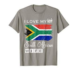 I Love my Hot South African Wife T-Shirt Husband Funny Gift