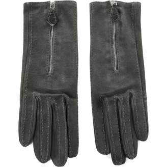Hermes Grey Suede Gloves