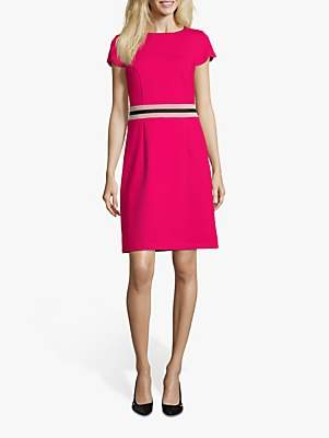 Betty Barclay Stripe Detail Jersey Shift Dress, Love Potion