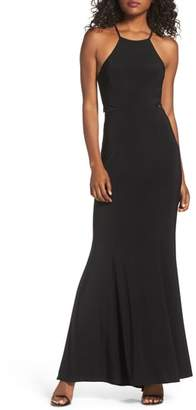 Xscape Evenings Lace & Jersey Mermaid Gown