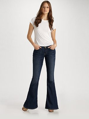 Current/Elliott The Low Rise Bell Jeans