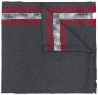 Bally striped border scarf