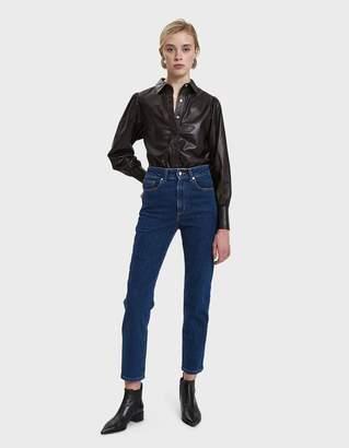 Ganni Rhinehart Leather Blouse