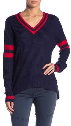 Elan International Striped V-Neck Sweater