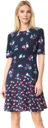 Rebecca Taylor Short Sleeve Print Mix Dress $450 thestylecure.com