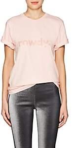 "Area Women's ""Rowdy"" Cotton T-Shirt-Peach"