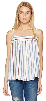 William Rast Women's Willliam Rast-Moore Spaghetti Strap Woven Tank Top