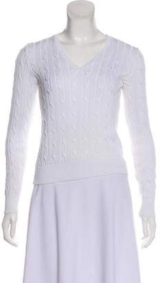 Ralph Lauren V-Neck Cable Knit Sweater