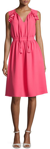 Kate Spade Kate Spade New York Sleeveless Crepe Tie-Front Dress