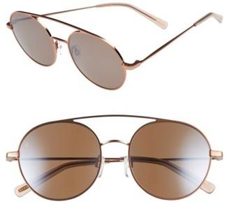 Women's Raen Scripps 55Mm Round Sunglasses - Rose Gold/ Flesh $205 thestylecure.com
