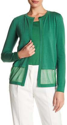 Lafayette 148 New York Layered Knit Cardigan $348 thestylecure.com