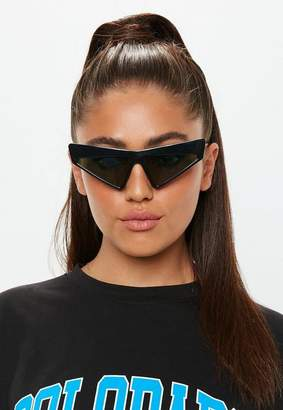 Missguided Black Cat Eye Sunglasses