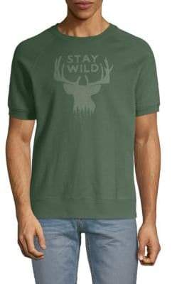 Michael Bastian Stay Wild Short-Sleeve Cotton Tee