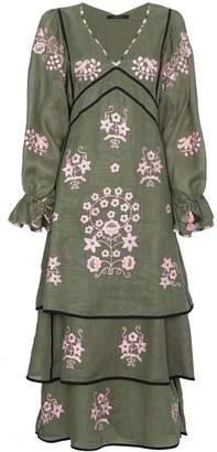 Pigeon Vita Kin Spanish Linen Maxi Dress