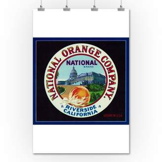 Lantern Press Riverside, California - National Brand Citrus - Vintage Crate Label (36x54 Giclee Gallery Print, Wall Decor Travel Poster)