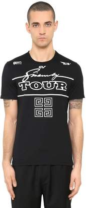 Givenchy Cuban Fit Tour Printed Jersey T-Shirt