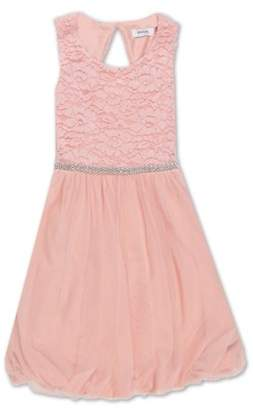 Lots of Love by Speechless Lace Bodice Bubble Hem Occasion Dress (Big Girls)