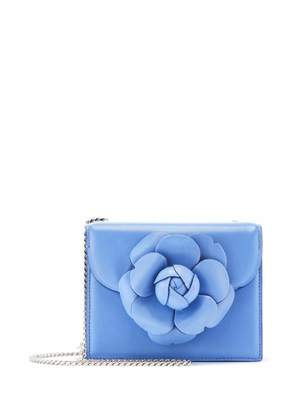 Oscar de la Renta Cornflower Leather Mini TRO Bag