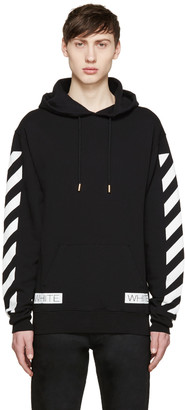 "Off-White Black ""Blue Collar"" Hoodie $410 thestylecure.com"
