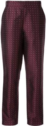 LAYEUR all-over pattern trousers