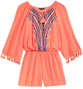 Sequin Hearts Tassel Trim Romper, Big Girls (7-16) $48 thestylecure.com