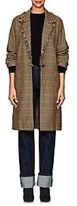 Raquel Allegra Women's Checked Cotton Mackintosh Coat - Brown