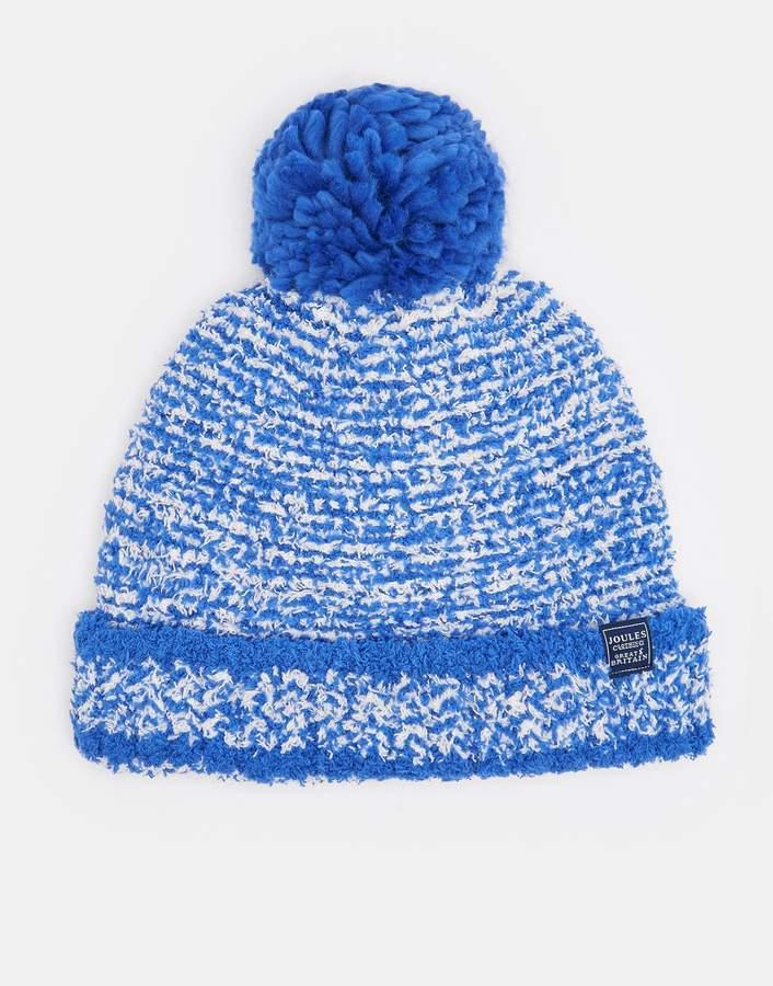 Joules Clothing Dazzling Blue Pomme Chenille Bobble Hat