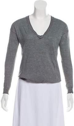 Theory Wool-Blend Striped Sweater