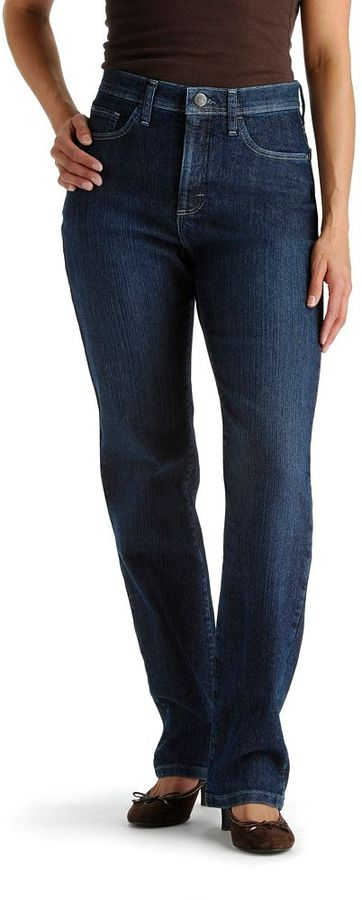 Lee classic fit slimming straight-leg jeans