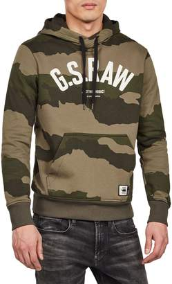 G Star Raw Camo-Print Cotton Hoodie