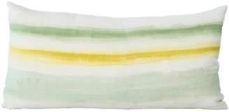One Kings Lane Vintage Hand-Painted Striped Lumbar Pillow - Madcap Cottage