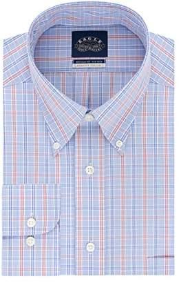 Eagle Men's Non Iron Stretch Collar Regular Fit Multi Plaid Dress Shirt
