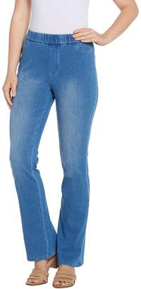 Isaac Mizrahi Live! Tall Knit Denim Pull-On Boot-Cut Jeans
