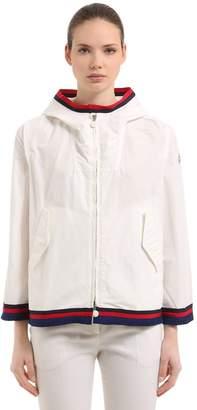 Moncler Cleo Hooded Zip-Up Nylon Jacket