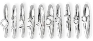 Sterling Silver Numerical Ring