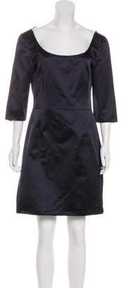 Miu Miu Lace-Up Satin Dress