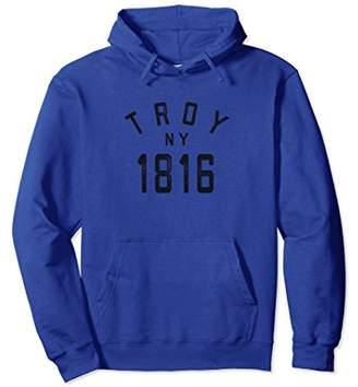 Retro Troy NY Sweatshirt Hoodie New York 1816 City USA