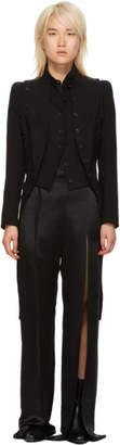 Ann Demeulemeester Black Wool Double Waistcoat