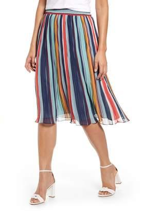 Halogen Pleated Chiffon Skirt (Regular & Petite)