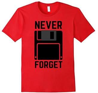 Never Forget Floppy Disk Vintage Tech Funny T-Shirt