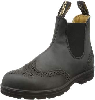 Blundstone Unisex Leather Lined Pull-On Boot Rustic Blk 9 M UK