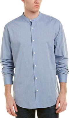 Vince Banded Collar Woven Shirt