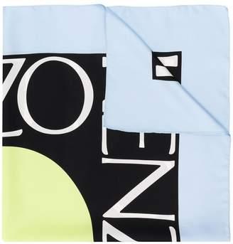 Kenzo contrast logo scarf